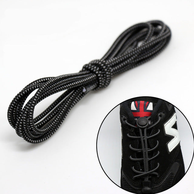 1 pair High elastic lazy shoelaces Locking Shoe Laces Elastic Shoelace