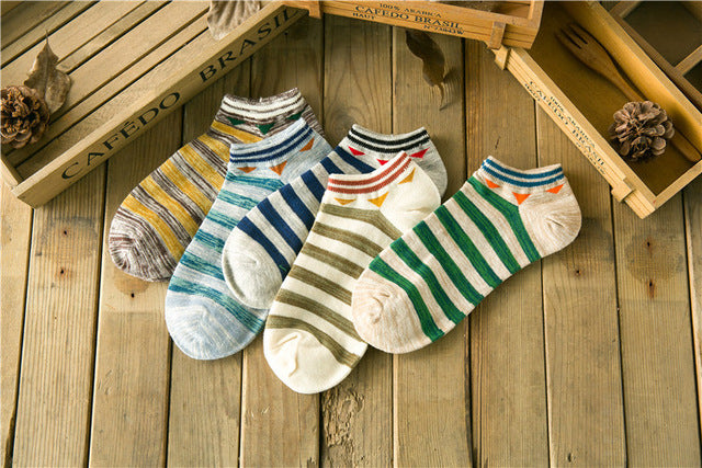 10 pieces = 5 pairs new arrived 2017 summer Korea style stripe