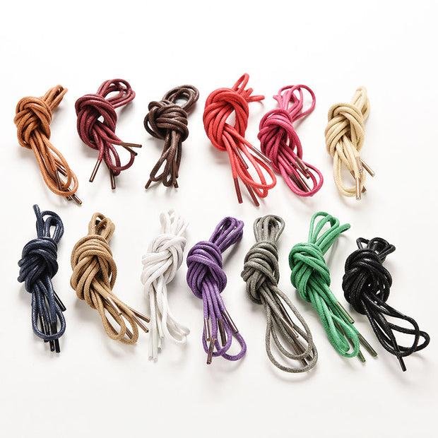 Fashion Round Shoelace Shoe Lace Sneakers Boot Athletic String Candy