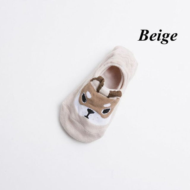 1 Pair Spring Summer New Fashion Women Girls Cute Lovely Dog Ankle