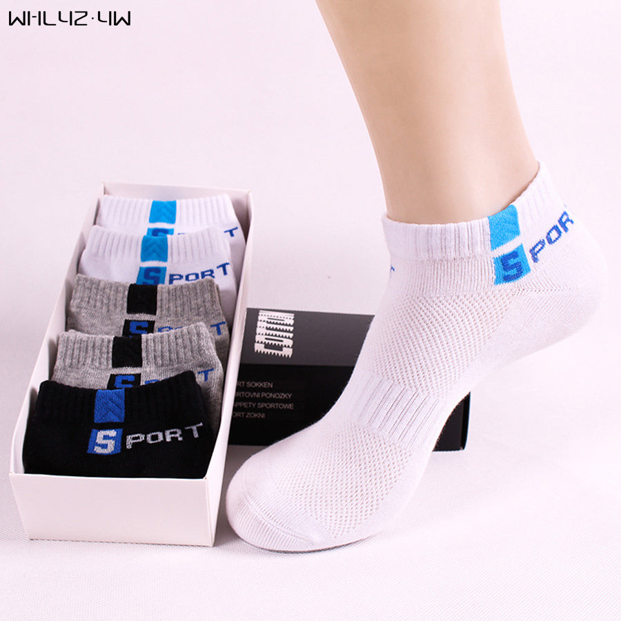 10pieces=5pairs=1lot cotton Sock Slippers for man Mesh compression