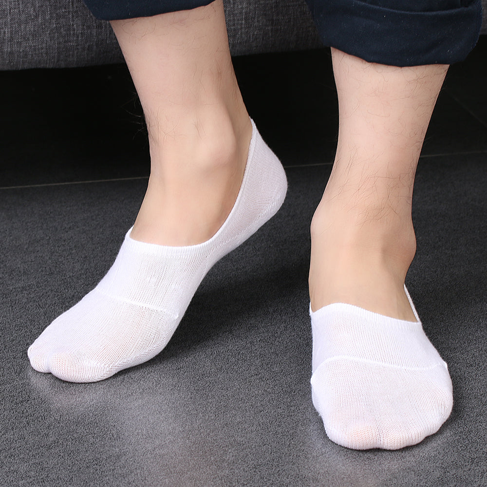 1Pair Soft Breathable Casual Mens Pure Color Cotton Invisible