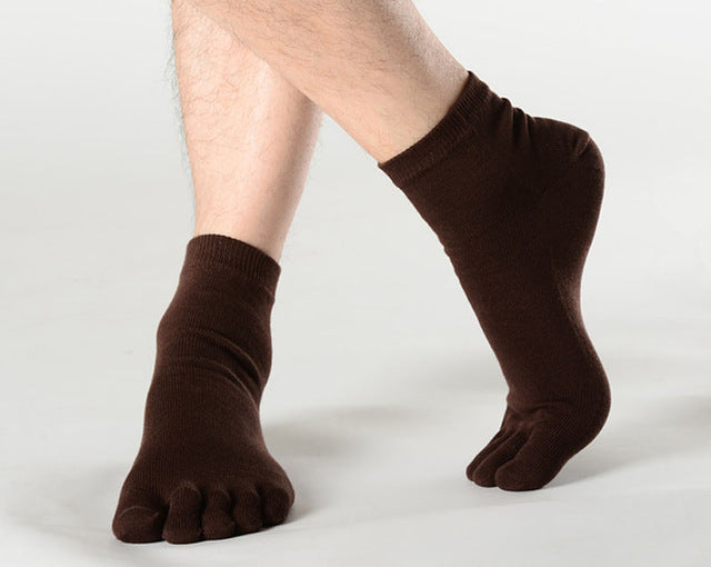 1 Pair Male Mens Spring Autumn 5 Toe Socks High Quality Breathable
