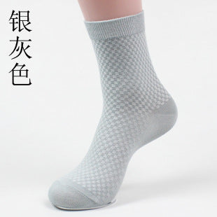 Cody Steel  Socks Bamboo Men Fashion Small Lattice Men Brand Socks