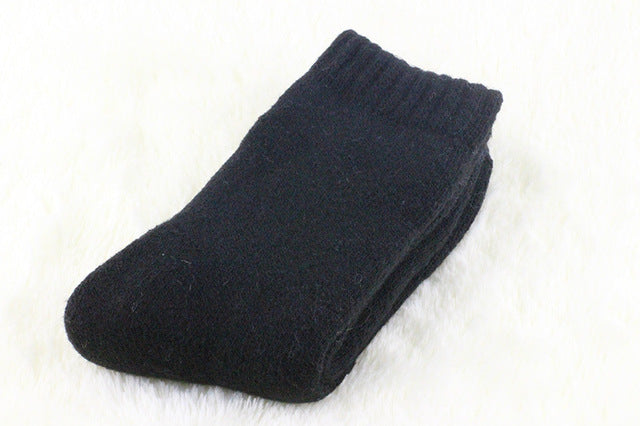 1 lot=3 pairs=6 pieces Wool socks warm socks plus thick velvet solid