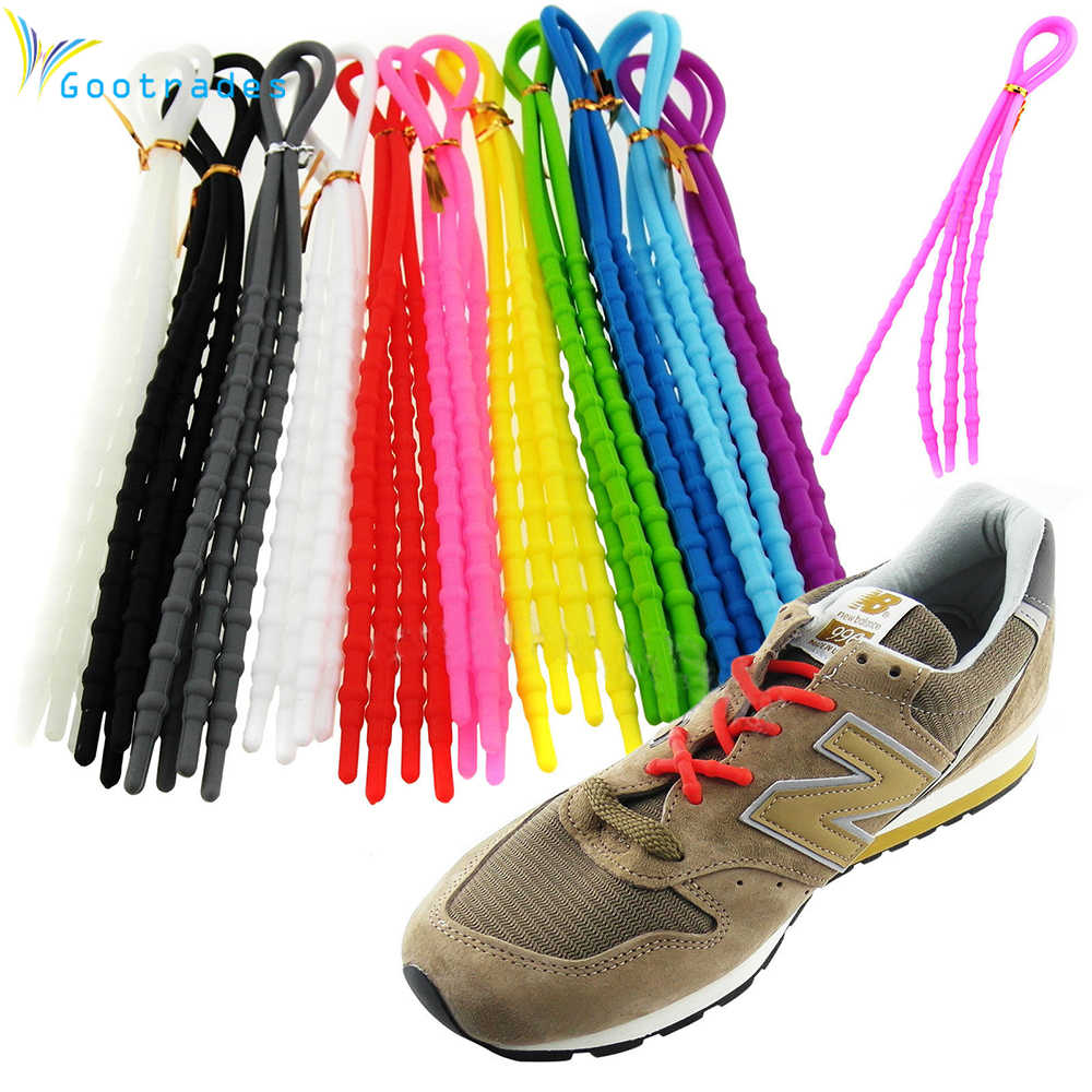 1Pair Unisex Women Men Athletic Running X-Tie Lazy Shoelaces Easy Soft