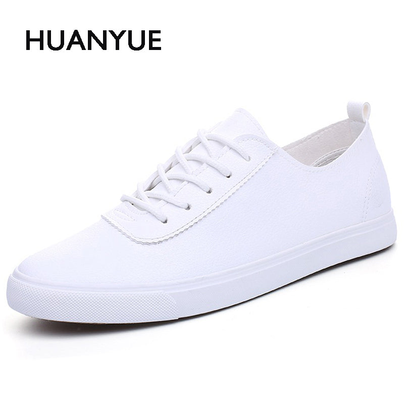 Summer Pu Leather Mens Shoes Breathable Men Casual Shoes Low Lace UP