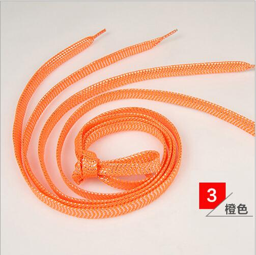 110 CM Women Flat Golden Silver Shoe Laces Super Long Daily Party