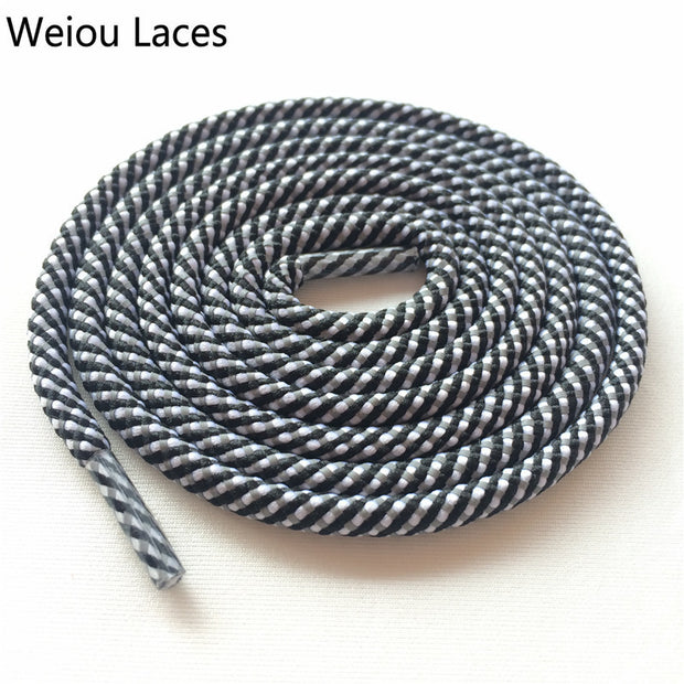 Weiou Round Type 3 Toned 3M Reflective Rope Shoelaces Woven Shoe Laces