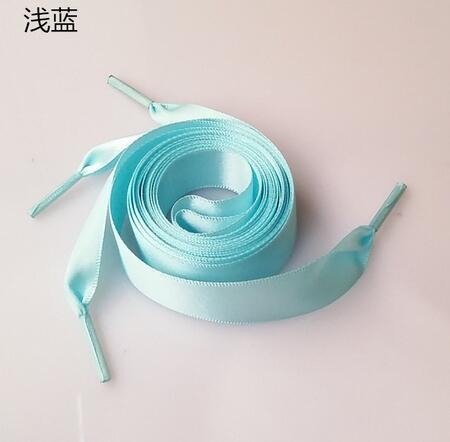 1PAIR Fashion 120CM Flat Silk Ribbon Shoelaces Shoe Laces Sneaker