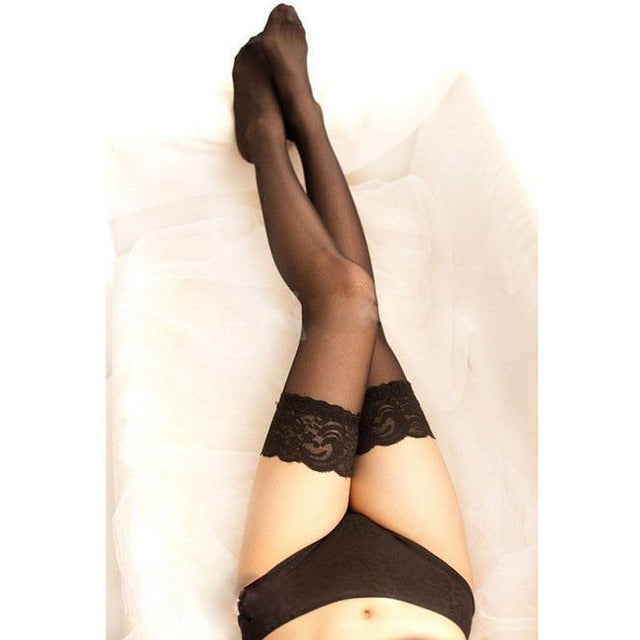 1Pair Hot Sexy Women Girl Lace Top Thigh High Stockings Nightclubs