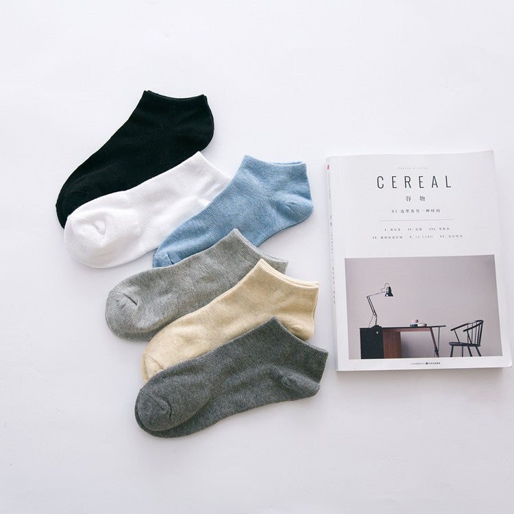 10 pieces = 5 pairs of New arrived socks solid color waist men leisure