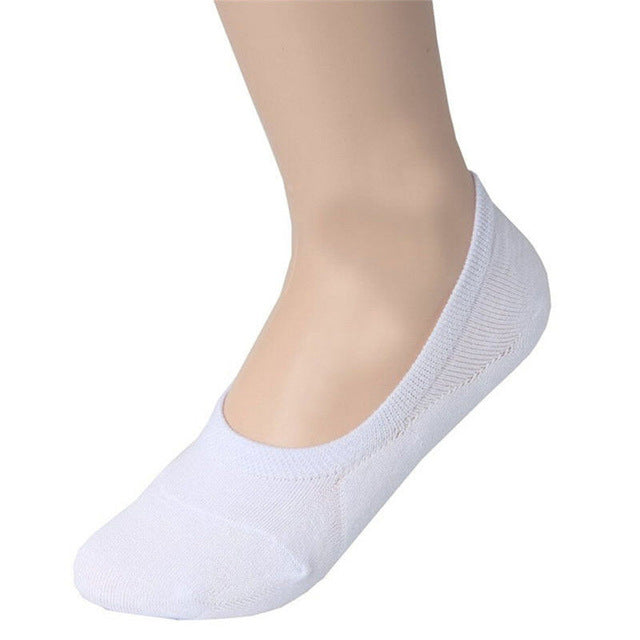 1Pair New Boat Sock Men's Non-Slip Invisible Sock Low Cut No Show