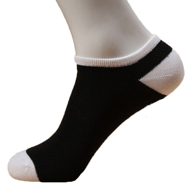 1PairSocks Men Socks Short Human 3d Printed Stripe And Solied