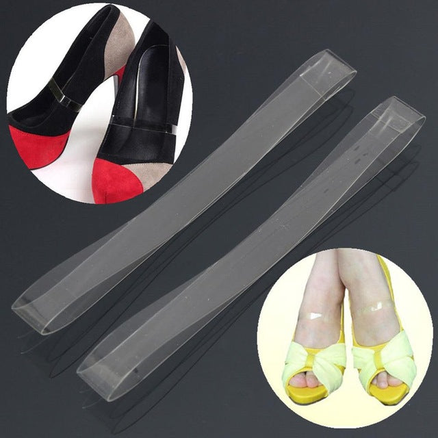 1Pair Invisible Elastic Silicone Transparent Shoelaces For High Heel