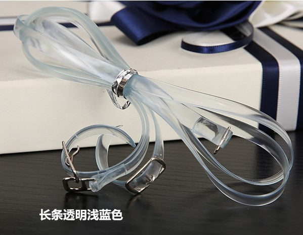 1 Pair Transparent High Heeled Flat Shoe Safety Clips Bands Strap