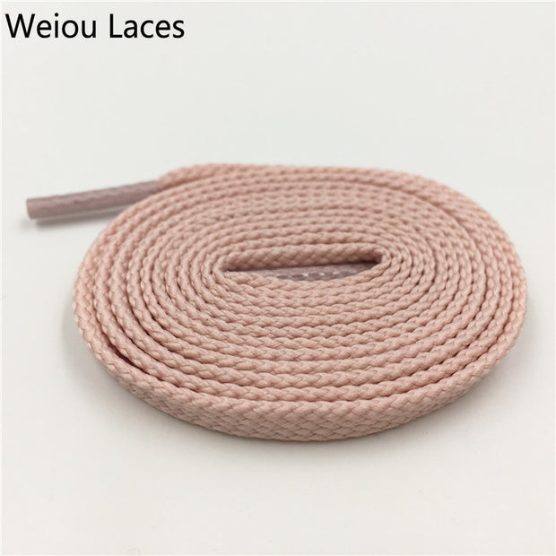 Weiou 7mm Flat Tubular Shoelace Styles Athletic Sports Sneakers