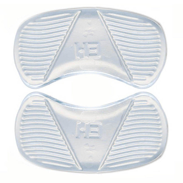 1 Pair Anti-wear Foot Heel Pad Transparent Silicone Massage