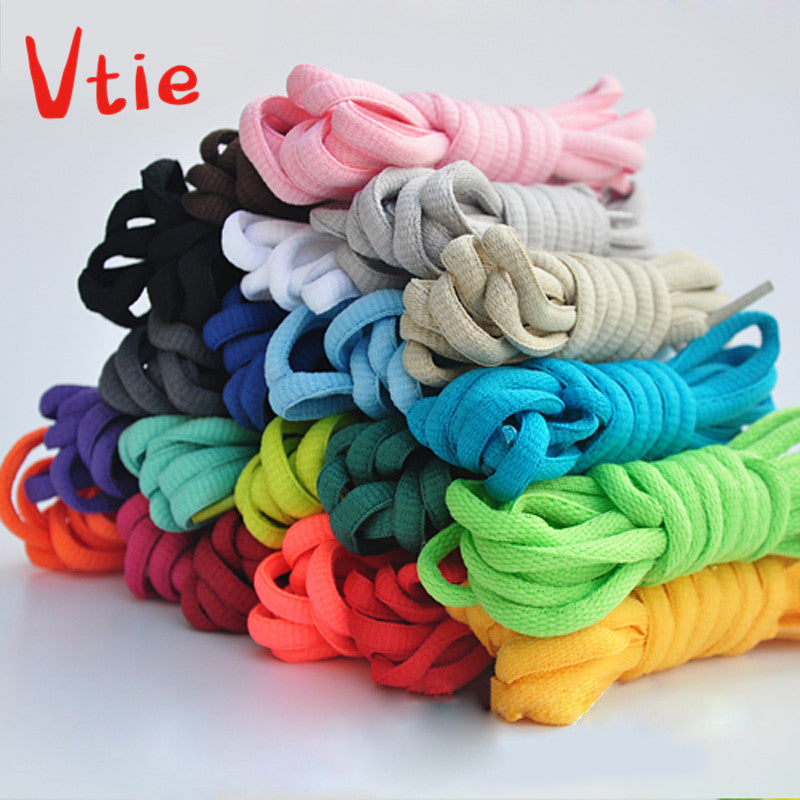 "150cm/59""Cotton Sport Round Oval Shoelaces All Sneakers Fit Strap"