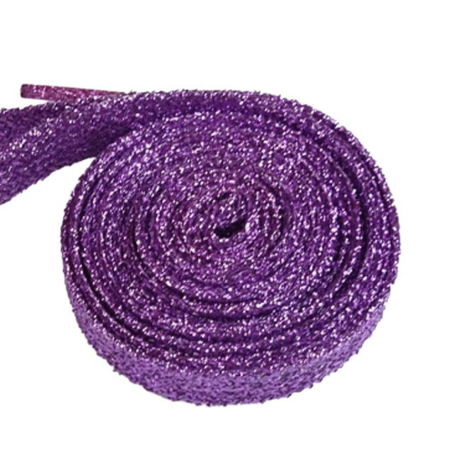 15 Colors Fashion 45inch Metallic Glitter Shoelaces Athletic Sport