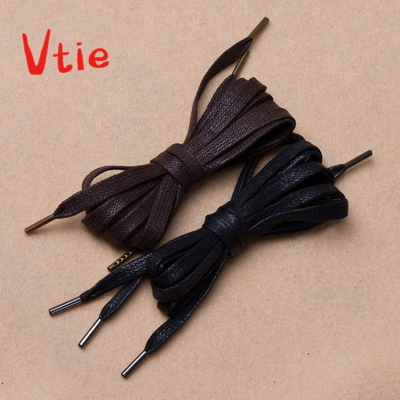 100cm/39'' Waxed Metal Black Bootlaces Dress Shoe Laces for Leather