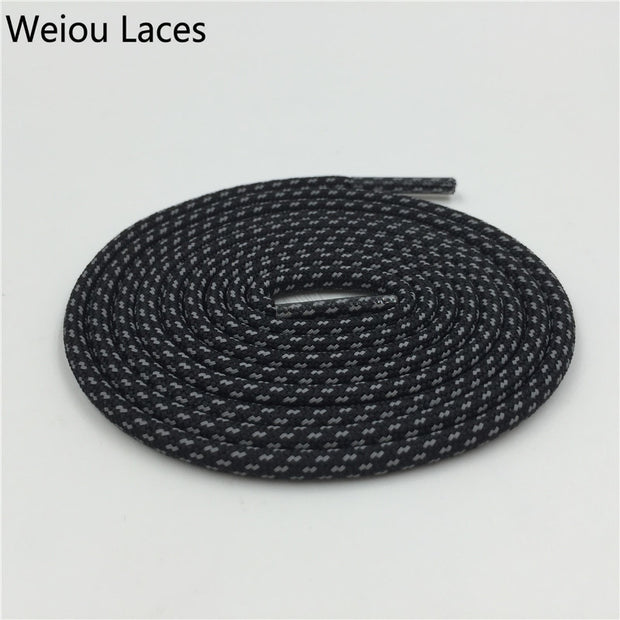 New Weiou Cross Grain 3M Reflective Rope Laces Thick Colorful