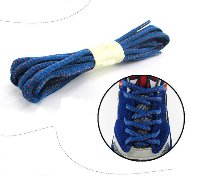 120cm/47'' Oval Round Shoelace Double Color Shoe Lace All Sneaker Stap