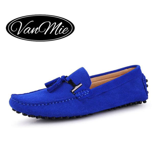 2017 Spring Suede Leather Men Tassel Loafers Moccasins Men Casual