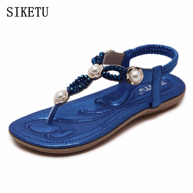 SIKETU Women Flats Sandals 2017 Summer New Bohemia Woman Flip Flops