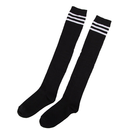 Hot Sale Women's Striped Thigh High Sexy Cotton Polyester Socks Over