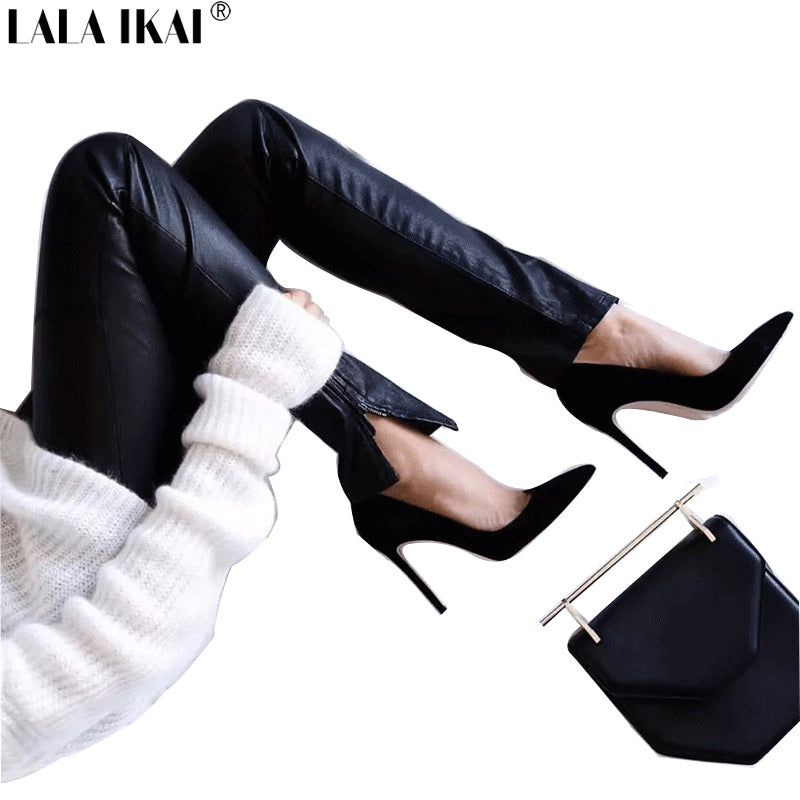 Elegant Women Pumps High Heels Pointed Toe Sexy Women Shoes Soft Women