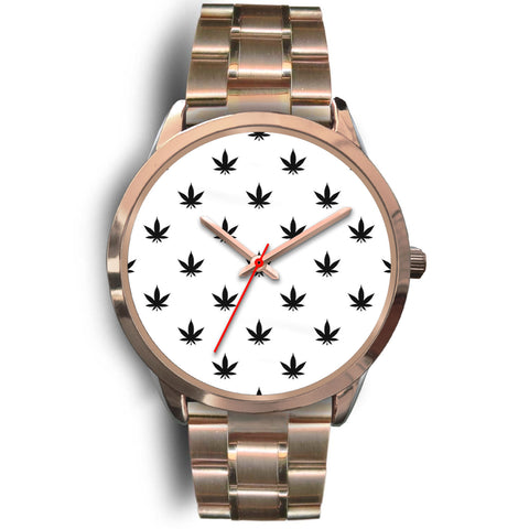 Watch | Black Leaves Rose Gold Watch
