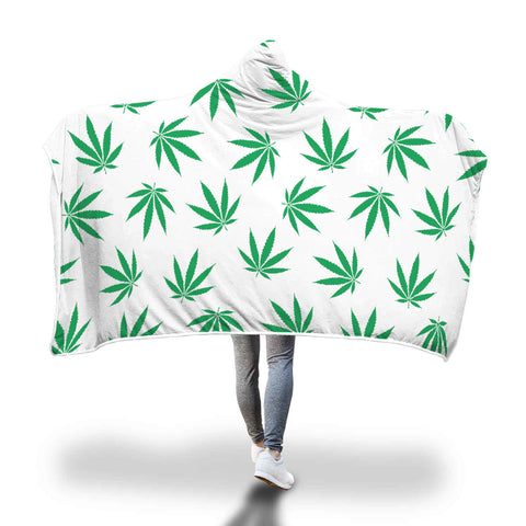 Blanket Hoodie | Green Leaves