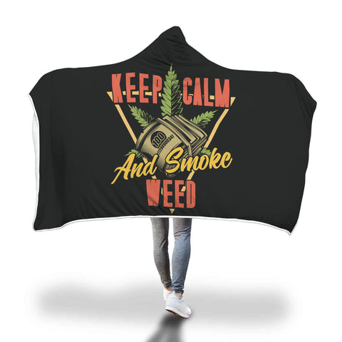 Blanket Hoodie | Keep Calm and Smoke Weed