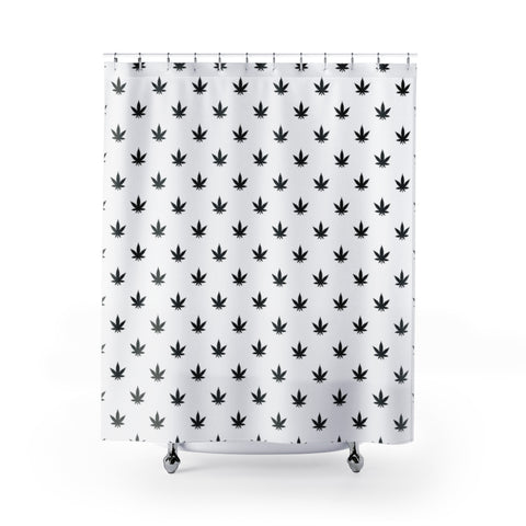Shower Curtain | Black Leaves