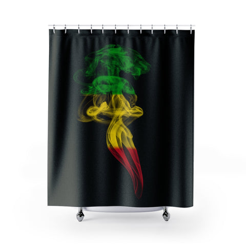 Shower Curtain | Rasta Smoke