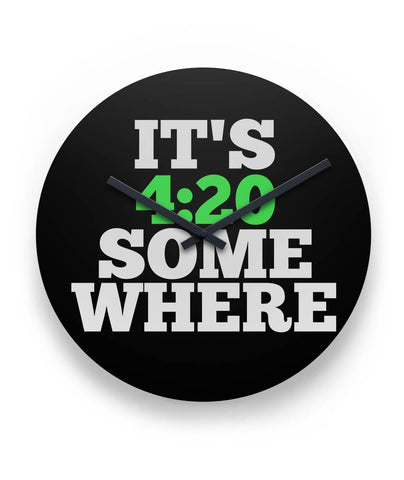 "Clock | It's 420 Somewhere 11"" Round Wall Clock"