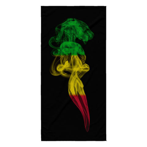 rasta-smoke-beach-towel