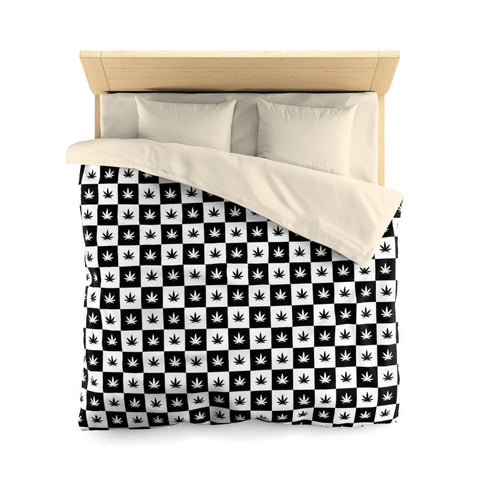 Microfiber Duvet Cover | Checkerboard