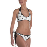 Women's Swimsuit Bikini | Black Leaves