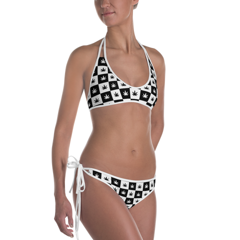 Women's Bikini Swimsuit | Checkerboard