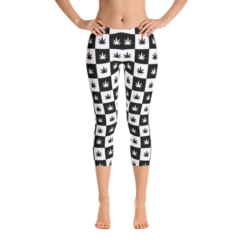 Leggings | Checkerboard Capri Leggings