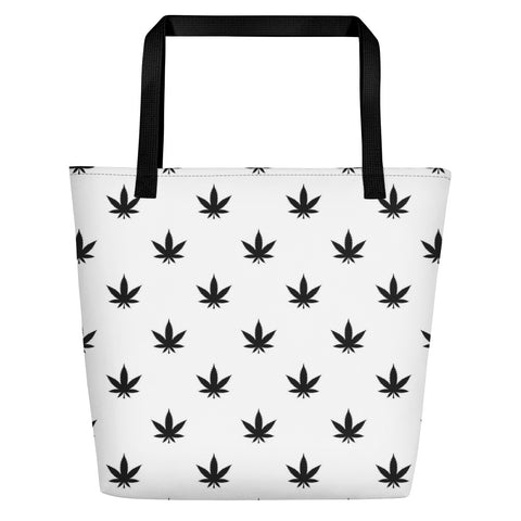 Beach Bag | Black Leaves