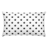 Pillow | Black Leaves Rectangular Pillow