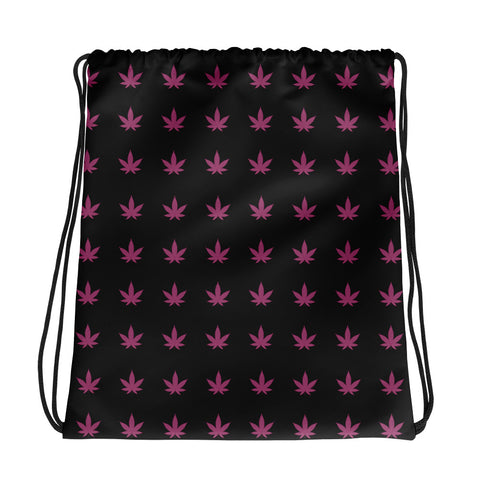Drawstring Bag | Pink Leaves