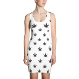 Women's Dress | Black Leaves