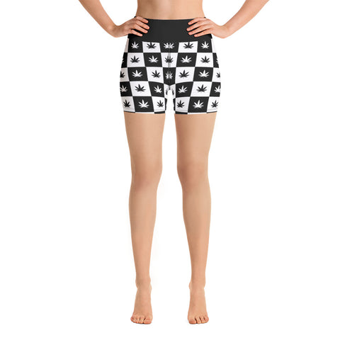 Yoga Shorts | Checkerboard