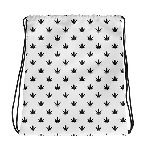 Drawstring Bag | Black Leaves