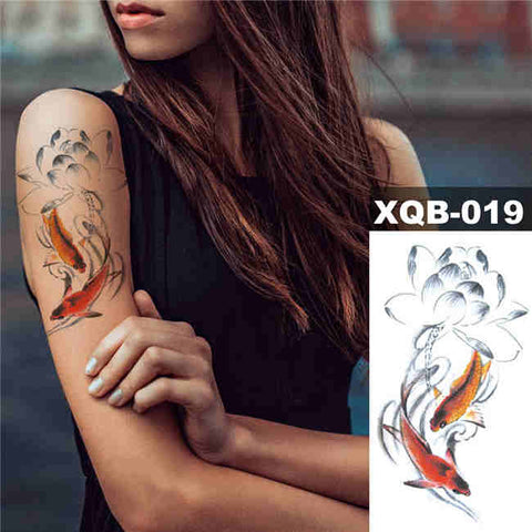 Koi Flower - Boston Temporary Tattoos