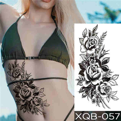 Flowers & Roses - Boston Temporary Tattoos